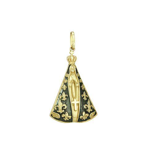 Pingente em Ouro 18K N. Sra. Aparecida - AU1124