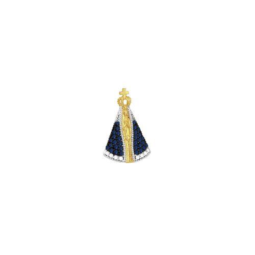 Pingente em Ouro 18K N. Sra. Aparecida - AU3281