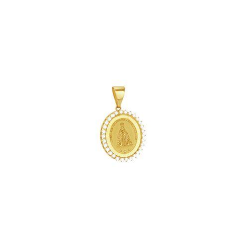 Pingente em Ouro 18K N. Sra. Aparecida - AU3388