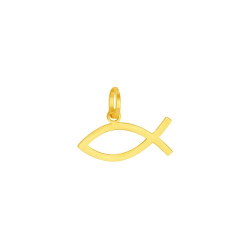 Pingente em Ouro 18K Peixe Ichthys - AU5932