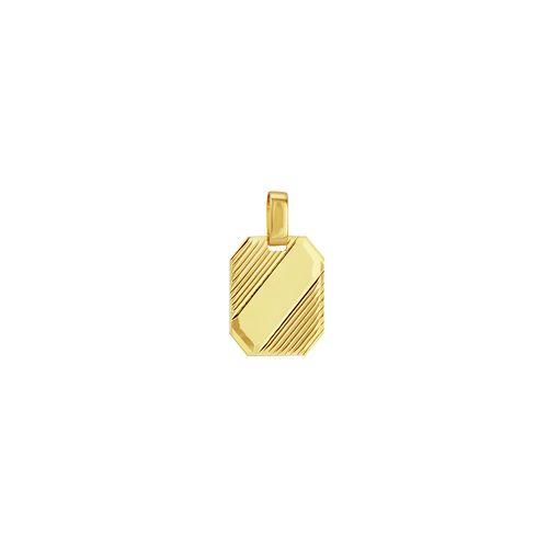 Pingente em Ouro 18K Placa Frisada - AU3189