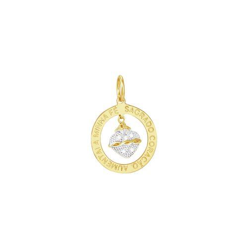 Pingente em Ouro 18K Sagrado Coração - AU3067