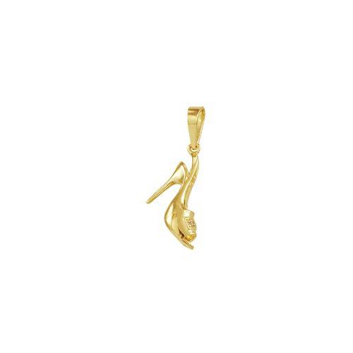 Pingente em Ouro 18K Salto com Zircônias - AU4173