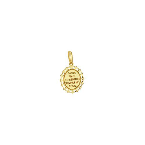 Pingente em Ouro 18k Santo Anjo - AU3713