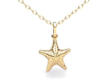 Pingente Estrela do Mar Ouro Amarelo