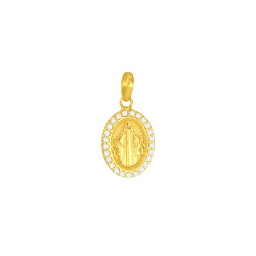 Pingente Medalha em Ouro 18K N. Sra. Graças - AU5640 - Pingente Medalha em Ouro 18K N. Sra. Graças