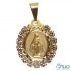 Pingente Nossa Senhora das Graças Folheado a Ouro com Strass | SJO Artigos Religiosos
