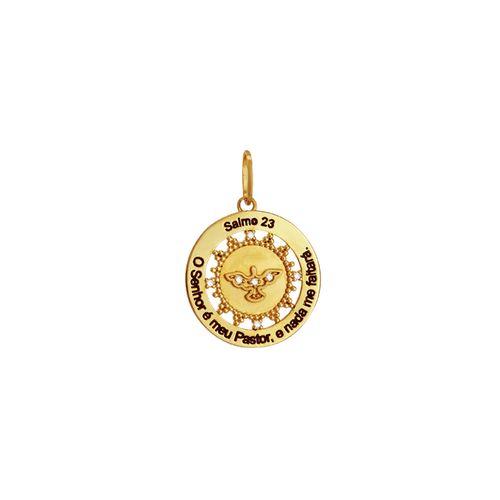 Pingente Ouro 18K Salmo 23 - AU1947