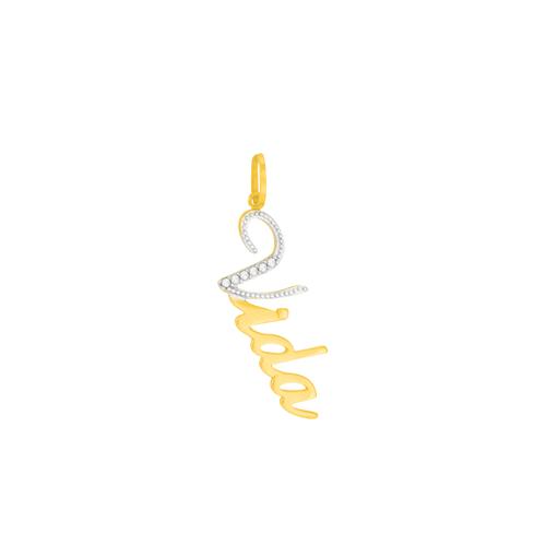 Pingente Ouro 18K Vida com Diamantes- AU5650