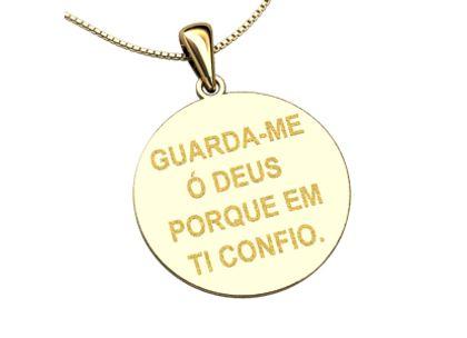 Pingente Salmo 16 Ouro Amarelo