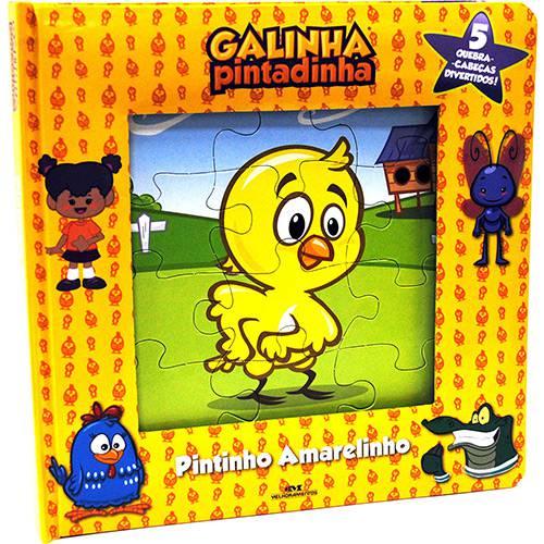 Pintinho Amarelinho: 5 Quebra-Cabeças Divertidos - Galinha Amarelinha (Livro Quebra-cabeças)