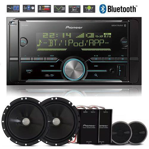 Pioneer Auto Radio Mvh-s618bt Bluetooth Mixtrax + Kit 2 Vias
