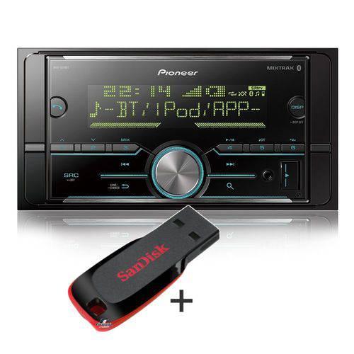 Pioneer Media Receiver Mvh-s618bt 2 Din Bluetooth Mixtrax Usb Spotify