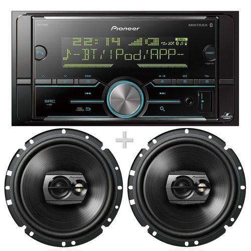 Pioneer Mp3 Mvh-s618bt com Bluetooth + Ts-1790br 6 Polegadas