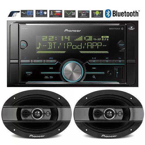 Pioneer Mvh-s618bt Mixtrax Spotify Bluetooth + Falante Ts-6990br
