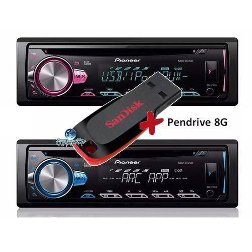 Pioneer - Toca Cd Deh-x10br Mixtrax Usb 2018 + Pendrive