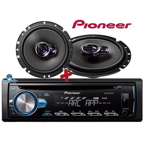 Pioneer - Toca Cd Deh-x10br + Par Falante Ts-1760br 6''