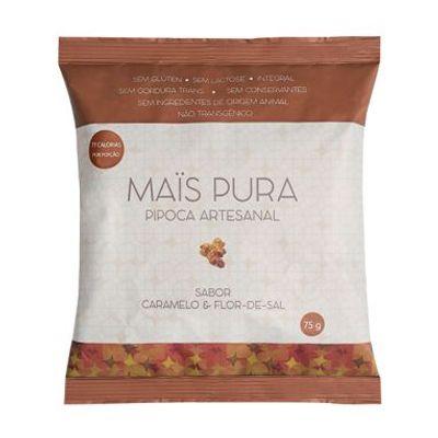 Pipoca Artesanal Caramelo e Flor de Sal 150g - Mais Pura
