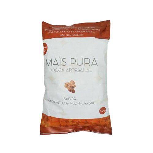 Pipoca Artesanal Caramelo e Flor de Sal Mais Pura 150g