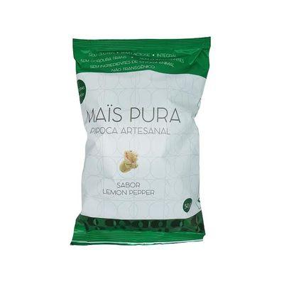 Pipoca Artesanal Lemon Pepper 50g - Mais Pura