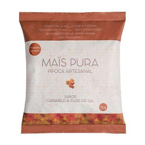 Pipoca Artesanal Mais Pura Caramelo e Flor de Sal 75g