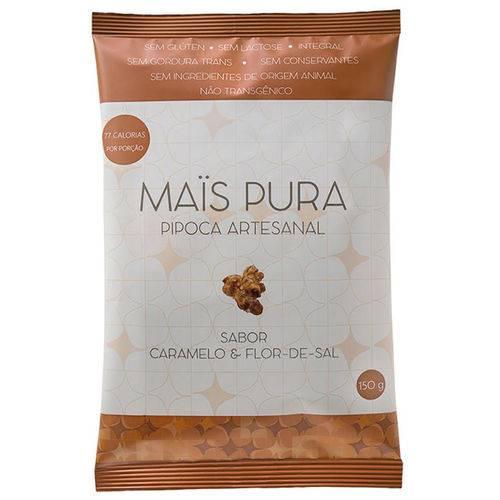 Pipoca Caramelo e Flor-de-sal 150g - Mais Pura