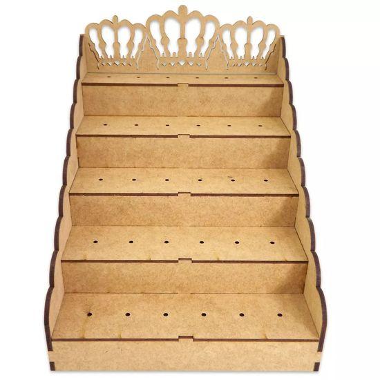 Piruliteiro Escada para 30 Pirulitos Coroa - Palácio da Arte