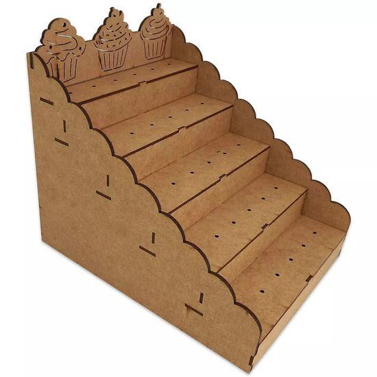 Piruliteiro Escada para 30 Pirulitos Cupcake - Palácio da Arte