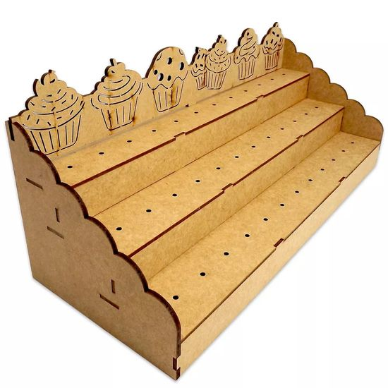 Piruliteiro Escada para 36 Pirulitos CupCake - Palácio da Arte
