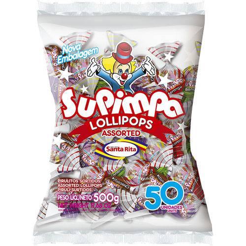 Pirulito Supimpa Frutas Sort Caixa com 50 - 1un