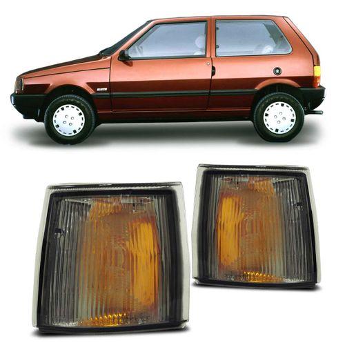 Pisca Seta Dianteira Uno 1991 a 1999 Fumê Modelo Cibie Lado Direito Passageiro