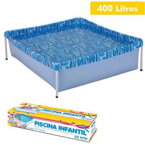 Piscina Infantil 400 Litros Retangular Estruturada - Mor