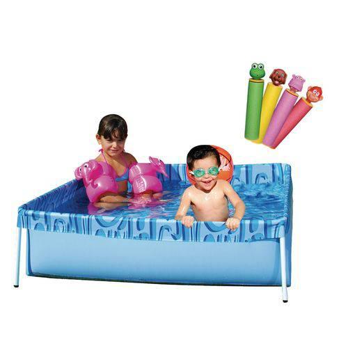 Piscina Mor 400 Litros Infantil Verão com Brinquedo