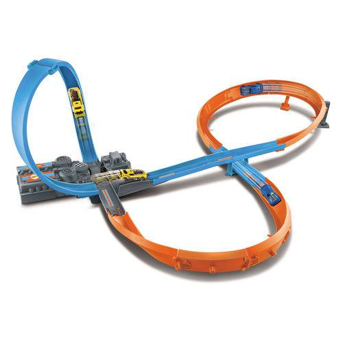 Pista de Percurso - Hot Wheels - Figure 8 Raceway - Mattel