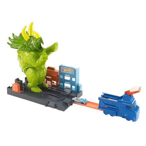 Pista e Veículo - Hot Wheels - Smashin' Triceratops - Mattel