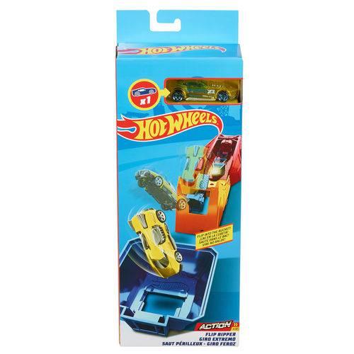 Pista e Veículo - Hot Wheels - Track Builder - Conjunto Acrobacias - Mattel