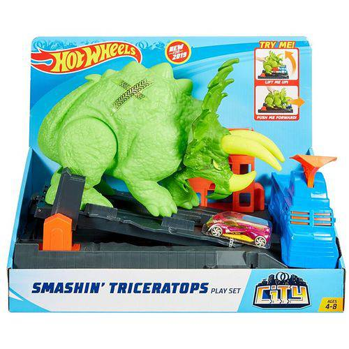 Pista Hot Wheels City - Ataque de Triceratops - Mattel