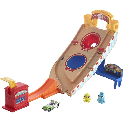 Pista - Hot Wheels - Toy Story 4 - Buzz Lightyear - Resgate no Parque de Diversoes