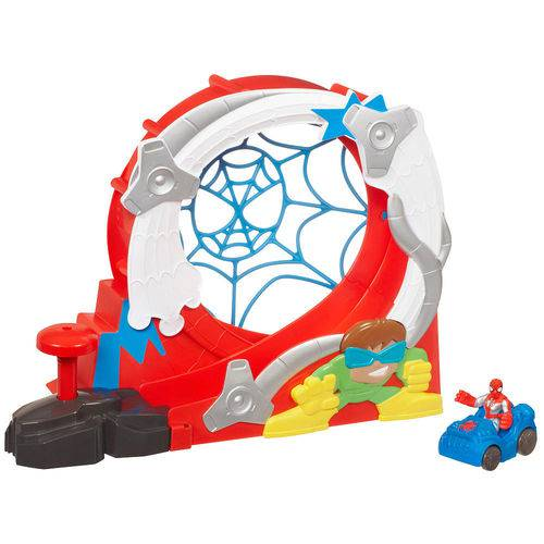 Pista Spider-man - Parque de Diversões - Playskool Heroes - Hasbro