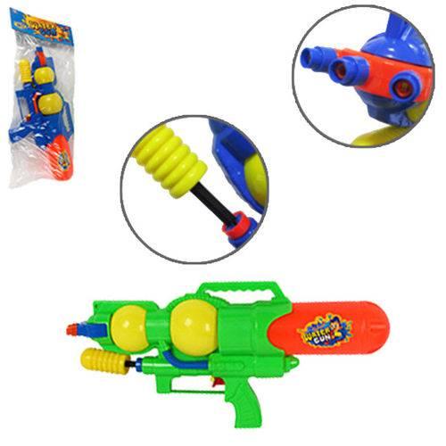 Pistola Lanca Agua Machine Gun 3 Jatos Colors 40cm