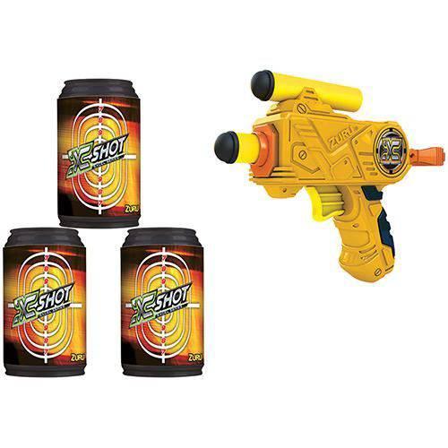 Pistola Micro Lança Dardos X-Shot com 3 Latas - Candide