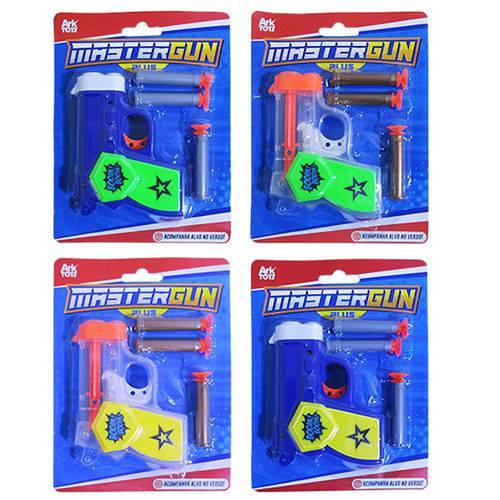 Pistola Revolver Lanca Dardo Ventosa com 3 Dardos Alvo Colors na Cartela