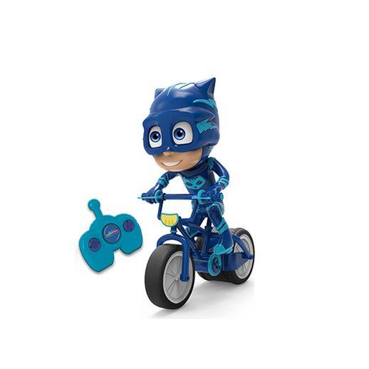 PJ Masks Menino Gato com Bicicleta de Controle Remoto - Candide
