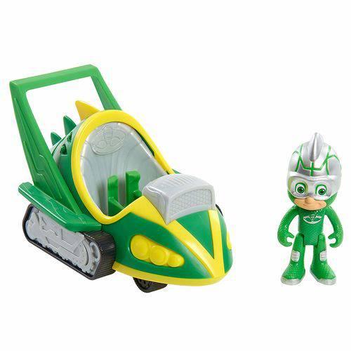 Pj Masks - Veículo Speed Booster com Personagem - Lagartixo Móvel - Dtc