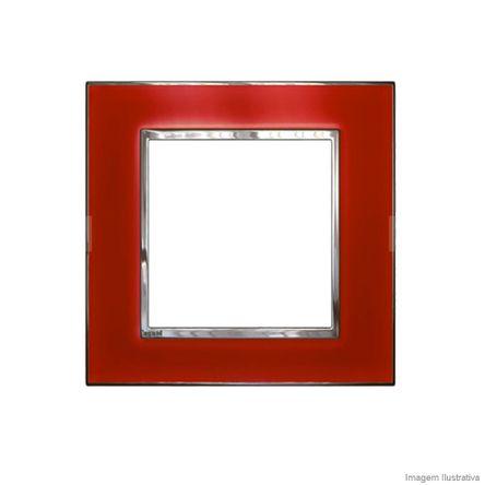 Placa 3 3 Postos Arteor Mirror Red 4X4 583033 Pial