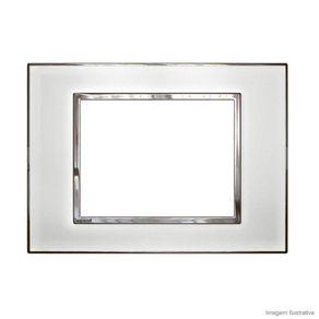 Placa 4X2 3 Postos Arteor Quadrados Mirror White Legrand
