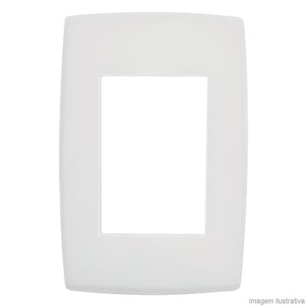 Placa 4x2 3 Postos Branco Pialplus Pial
