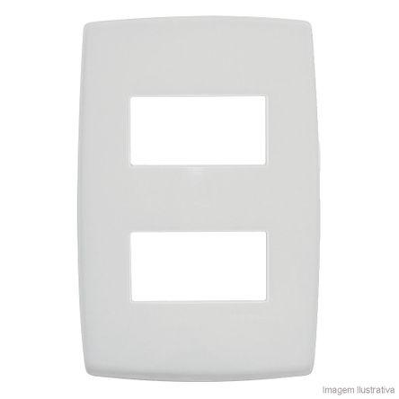 Placa 4x2 2 Postos Separados Branco Pialplus Pial