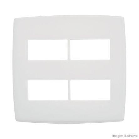 Placa 4x4 2 2 Postos Separados Branco Pialplus Pial