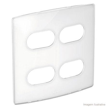 Placa 4x4 2 Postos 2 Postos Separados Sugar Gloss Nereya Pial